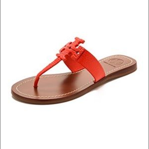 Tory Burch Moore Thong Sandals Poppy